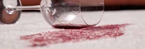 Treating and removal of stains occurred on the carpet surface